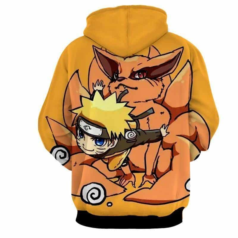 Naruto And His Fox Fanfiction Japanese Anime Cool Hoodie