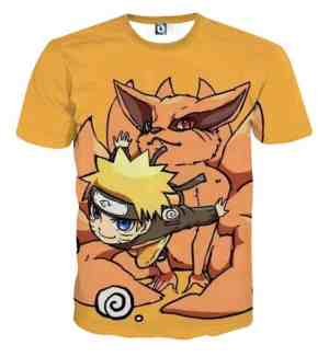 Naruto And His Fox Fanfiction Japanese Anime Cool T-Shirt