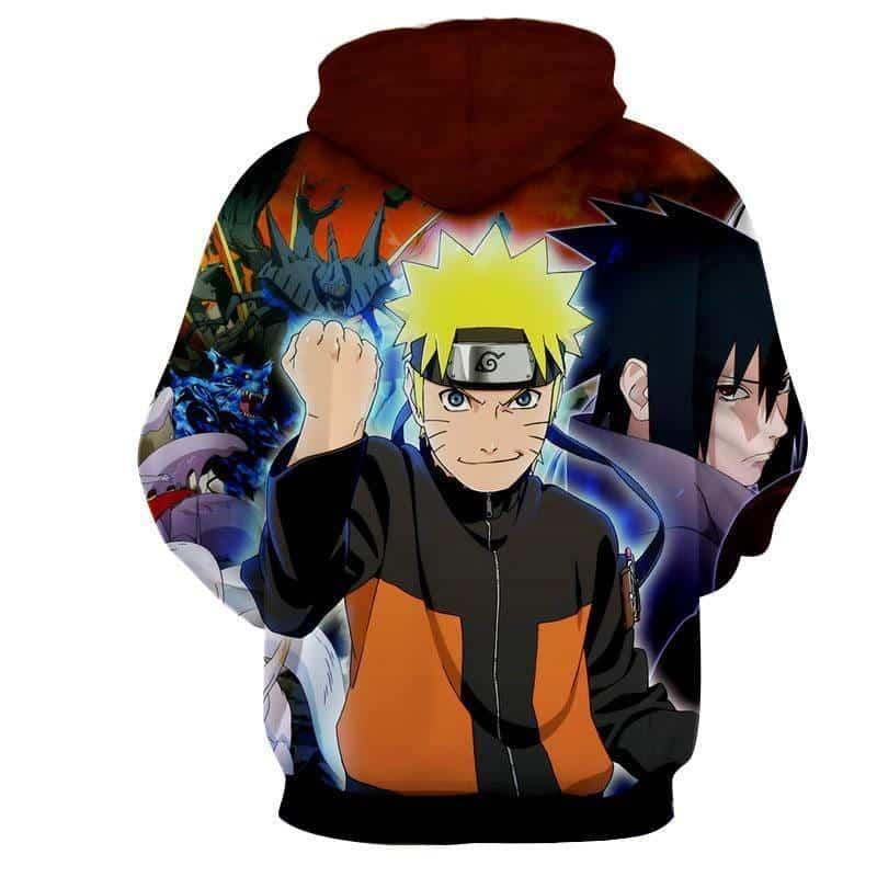 Naruto Shippuden Sasuke Fight Monster Cool Winter Hoodie