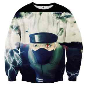 Naruto Ultimate Ninja Storm Game Kakashi Chidori Sweatshirt