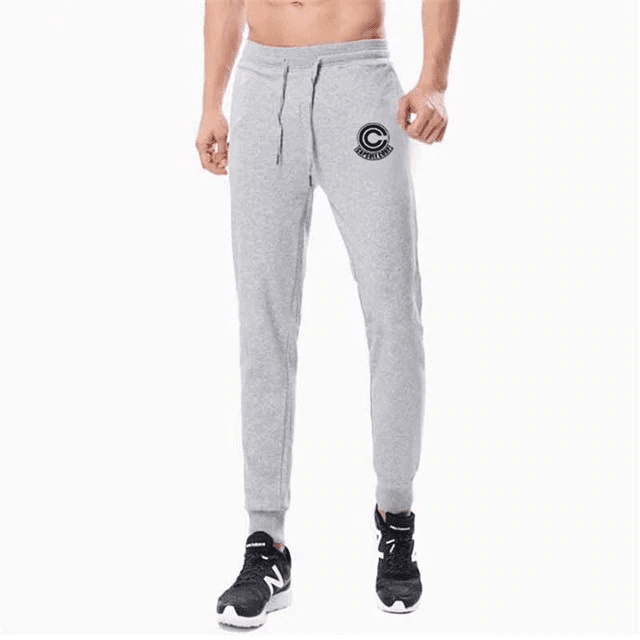 Dragon Ball Z Capsule Corp Grey Training Joggers Sweatpants