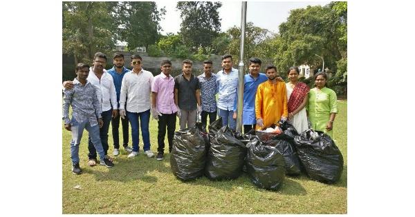 Diwali Various organizations waste garbage in the garden for Diwali Padwa