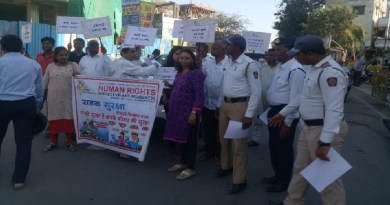 New Sangvi Human rights| Protection & Awareness तर्फे Rasta surakshah sanata news