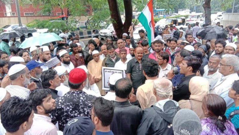 get justice for Tabrez Ansari the Bombmaro andolan in Pune