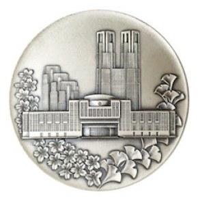 東京都メダル(銀いぶし仕上げ)/ 真鍮・銀いぶし仕上げ
