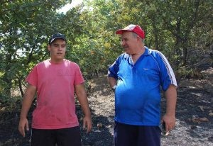 Георги Трендафилов с дядо си - кмета Димо Алксиев