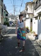Summer play skirt 3: Roller skate wrap skirt, July 2013