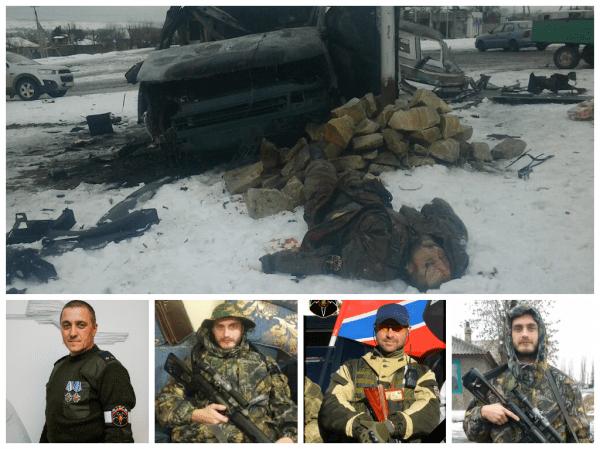 """La curva di Lutugino. La località dell'omicidio di Alexander Bednov e dei soldati della RRG (GRUPPO? NdT) di  """"Batman"""" (tra loro alcuni cittadini russi)."""