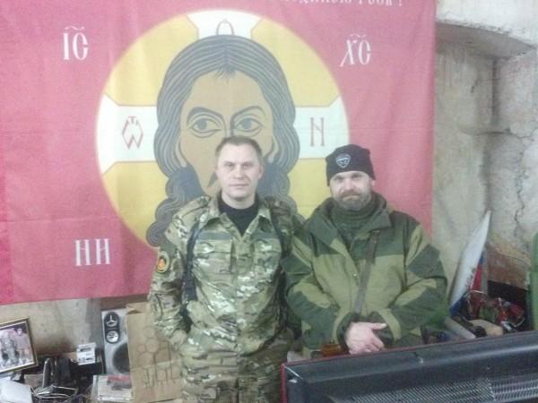 """Il  comandante della BrSSD (Brigata Separata di Designazione Speciale) """"Odessa"""" e della brigata """"Fantasma"""" comandante Mozgovoj."""
