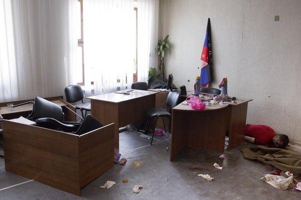 """L'amministrazione di Torez, dopo l'attacco che è stato organizzato con gli sforzi congiunti dello SBU, di Lyashko e di """"Abelmas""""."""