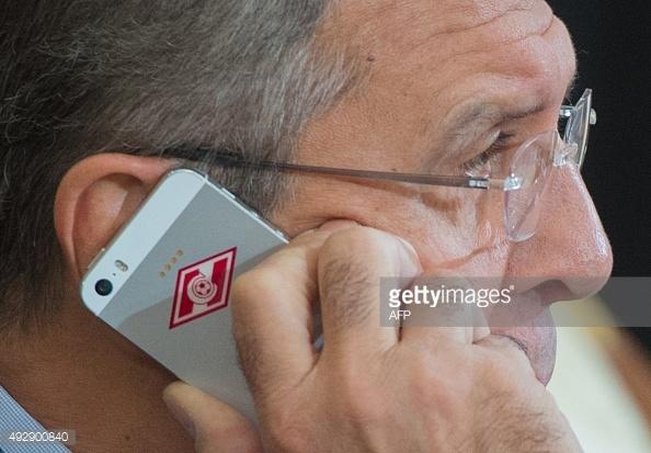 L' I phone con la cover dello Spartak Mosca