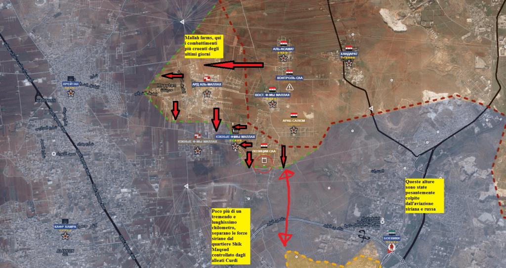 Aleppo nord, i combattimenti alle fattorie Makkah 1-2-07-2016