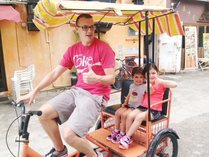 Thumbs up to the Mui Wo tricycle.