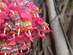 flower offering at Tin Hau Temple
