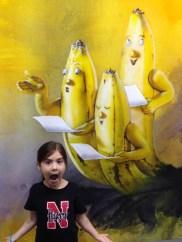 Singing bananas at Art Basel