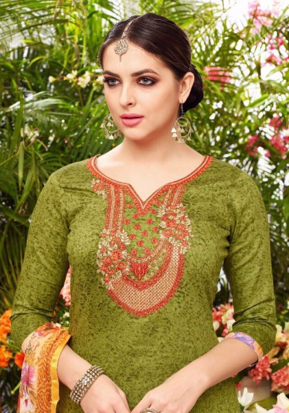 SOHINI KARACHI PRINT WITH EMBROIDERY WORK DRESS MATERIALS