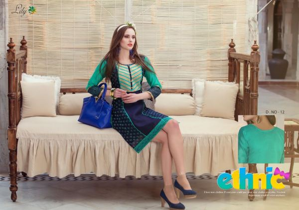 KURTI CHANDERI SILK WITH EMBROIDERY WORK – LILY
