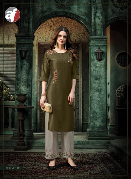 AF Zoya Silk Kurtis with Palazzo wholesalers
