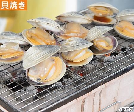 ホンビノス貝の網焼き