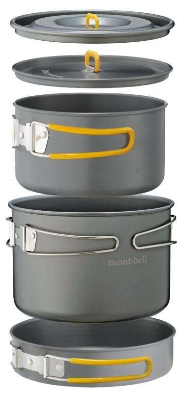12.モンベル(mont-bell) クッカー アルパインクッカー 16+18パンセット 1124567
