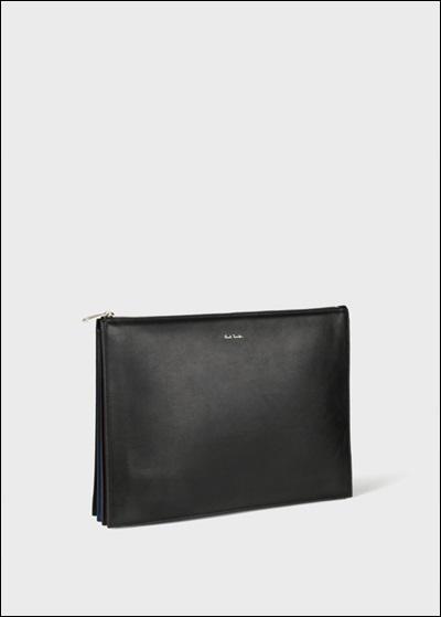 bdb4db193a83 美しいスムースレザーがエレガントな雰囲気を醸し出す、おすすめのクラッチバッグです。注目は、アコーディオンに似たユニークな形状のマチ。