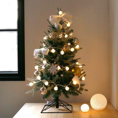 Blooming&me クリスマスツリー 北欧風 デザインツリー ゴールドオーナメントセットタイプ