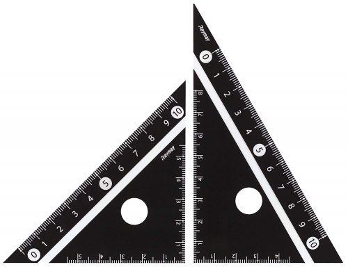 レイメイ藤井 見やすい白黒 三角定規 黒 10cm