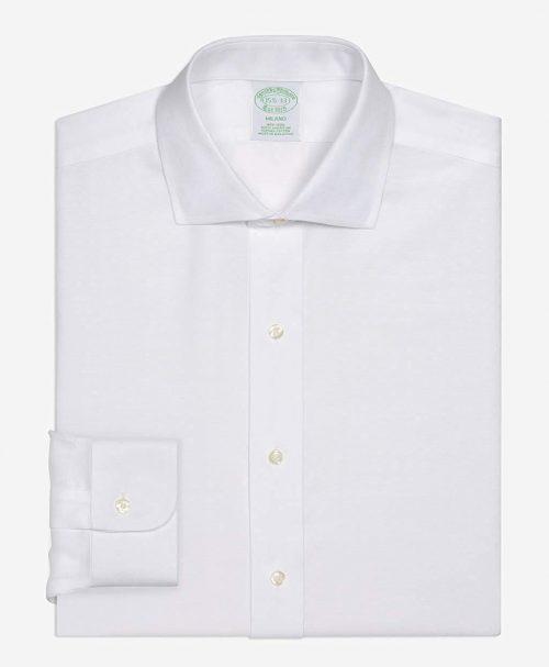 3488fcf6d8e8c ブルックスブラザーズ(Brooks Brothers) ノンアイロン ドットドビー ドレスシャツ ミラノ