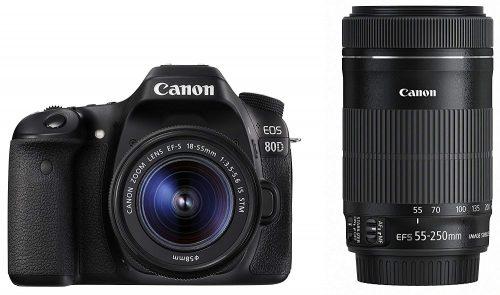 キヤノン(Canon)デジタル一眼レフカメラ EOS 80D ダブルズームキット EOS80D-WKIT