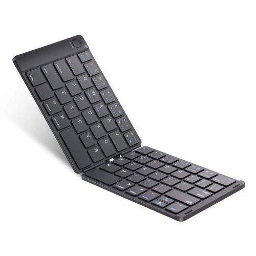 イーウィン(Ewin) 折りたたみ式Bluetoothキーボード  スタンド付き EW-ZR050B