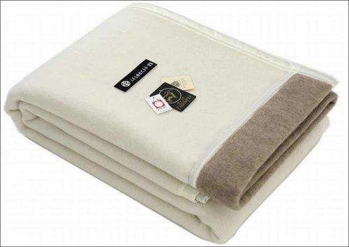 三井毛織 カシミヤ ウール リバーシブル毛布 シングルサイズ
