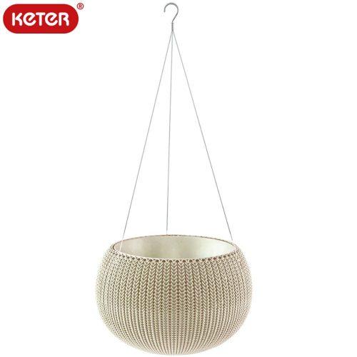 ケーター(KETER) ハンギングチェーン付き 植木鉢