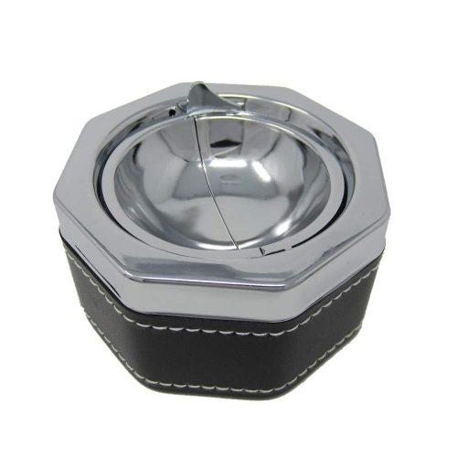 FUPUONE ステンレス製 ふた付き灰皿 8角タイプ