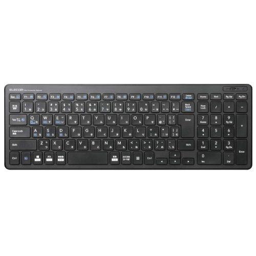 エレコム(ELECOM) Bluetooth超薄型コンパクトキーボード TK-FBP101BK