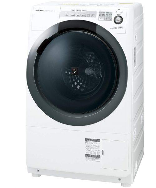シャープ(SHARP) 洗濯乾燥機 コンパクトドラム 右開き ES-S7C-WR