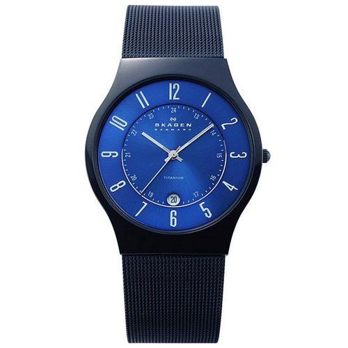 スカーゲン(SKAGEN) ウルトラスリム チタン腕時計 T233XLTMN