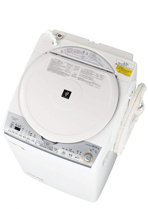 シャープ(SHARP) タテ型洗濯乾燥機 ES-TX8C 8kg