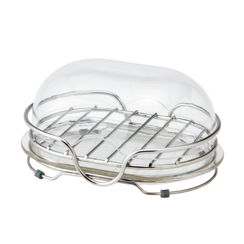 レック(LEC) ステンレス 石けん皿 フタ付き 置き型