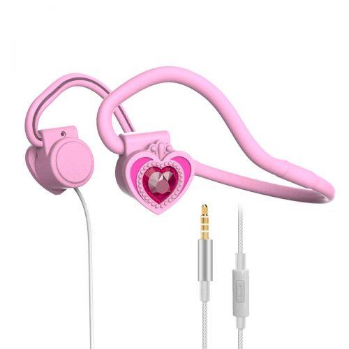JINSERTA キッズ用骨伝導ヘッドホン E5233-pink headphone