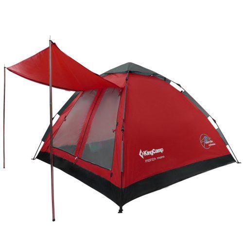 キングキャンプ(KingCamp) ワンタッチテント 3~4人用 KT3092 ダークレッド