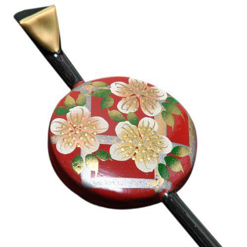 京都きもの町 蒔絵風桜しおり 一本挿しかんざし