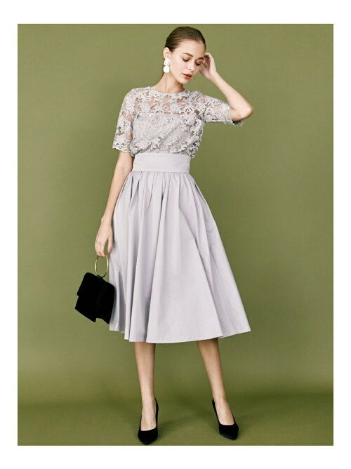 ラグナムーン(LAGUNAMOON) LADYオーバーレースギャザードレス