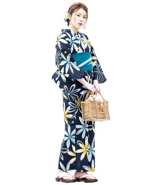 創美苑(ソウビエン) 浴衣セット 作り帯+着付け4点セット