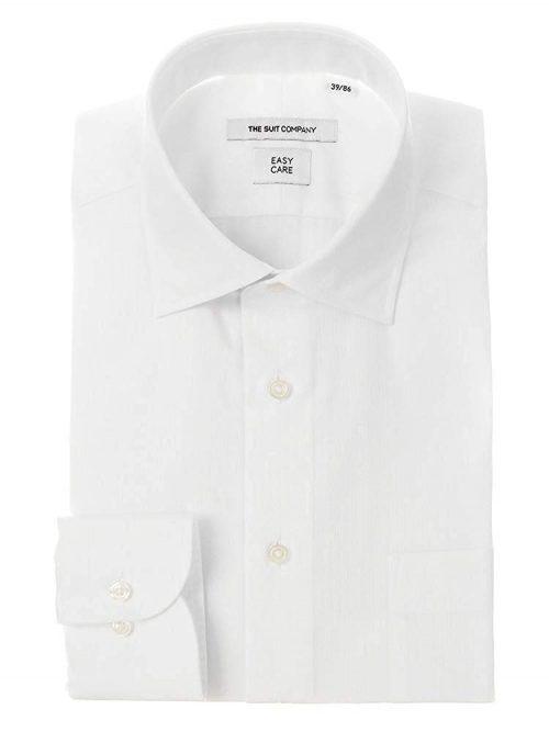 ザ・スーツカンパニー(THE SUIT COMPANY) ワイドカラードレスシャツ シャドーストライプ