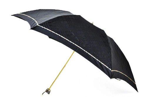 バーバリー(BURBERRY) トーナルチェック×ノバチェックパイピング 折りたたみ雨傘
