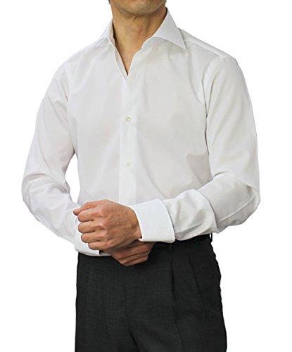 バルバ(BARBA) コットンブロード セミワイド ターンナップカフ ドレスシャツ