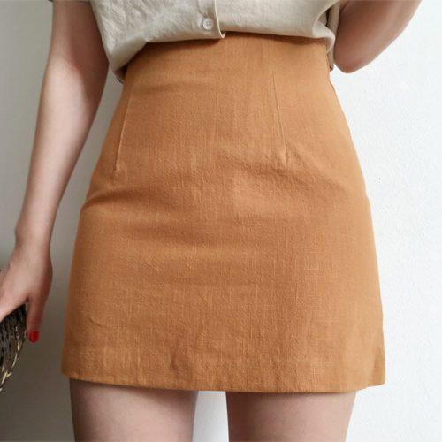 ゴゴシング(GOGOSING) ハリボーベーシックリネンスカート