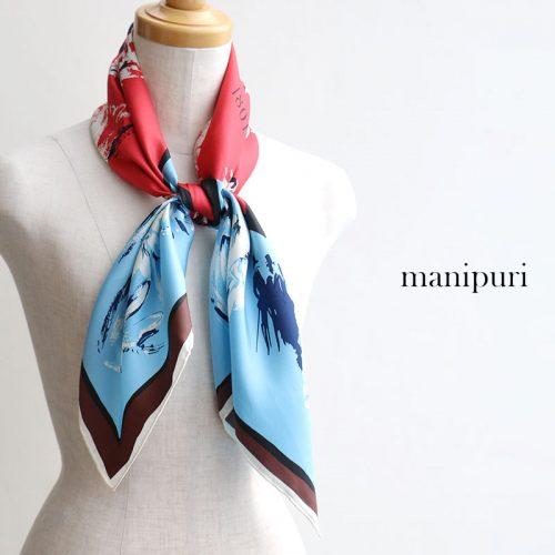 マニプリ(manipuri) 88cmシルクスカーフ