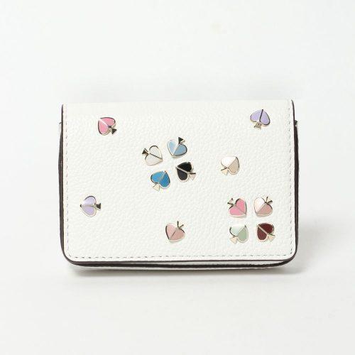 ケイト・スペード ニューヨーク(kate spade new york) マルゴー エナメル スペード フラップ カード ケース PWRU7144-141-UNS