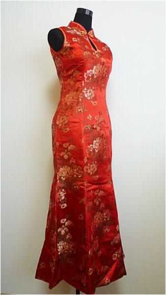 チャイナドレスフラワー(FLOWER) マーメイド・大牡丹柄チャイナドレス